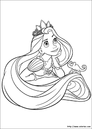 ã colorier princesse raiponce barbie