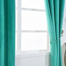 Premium Curtains Blackout Curtains Premium Velvet 52 X84 Teal Pack Of 2 Thermal