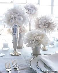 Non Flower Centerpieces For Wedding Tables by Glitter Spray Paint And White Coffee Fikters Xnas Balls