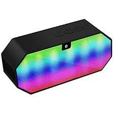 led light bluetooth speaker amazon com bluetooth speaker dland portable color changing led