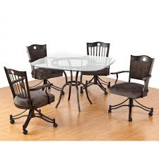 Leather Swivel Dining Chairs Amazing Terrific Swivel Dining Room Chairs With Casters 58