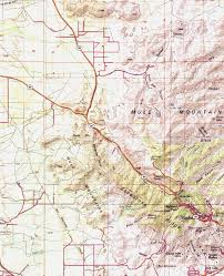 Bisbee Arizona Map by Mule Mountains