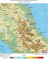 Norcia Italy Map Terremoto Altra Forte Scossa Avvertita Nel Centro Italia E La