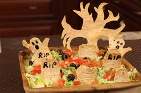 halloween party dip graveyard taco dip perfect for halloween by rockin robin youtube