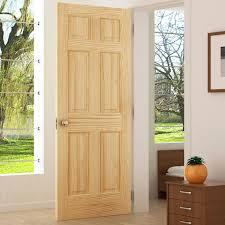 Slab Interior Door Kiby Colonial Solid Wood Panelled Pine Slab Interior Door