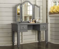 Kids Bedroom Furniture Desk Lakehouse Stone Finish Vanity Desk With Mirror Desks Ne Kids