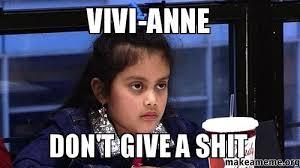 Anne Meme - vivi anne don t give a shit make a meme