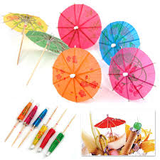 mixed drink clipart tinxs mixed cocktail umbrellas paper wood multi colour amazon