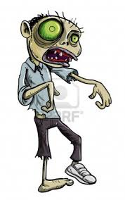 cartoon haloween pictures cartoon illustration of a ghoulish undead green zombie in tattered