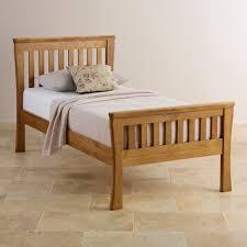 Single Wood Bed Frame Orrick Single Bed Solid Oak Oak Furniture Land