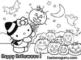 30 free printable cute halloween drawings coloring pictures