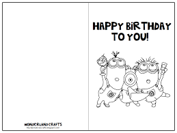 printable birthday card decorations have them color and decorate the card fold it in half on the line