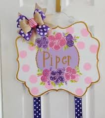 hair bow holder painted wood hair bow holder door hanger whimsical