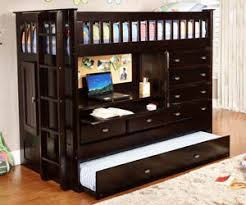 Espresso All In One Bunk Bed All American Furniture Buy  Less - Trundle bunk bed with desk