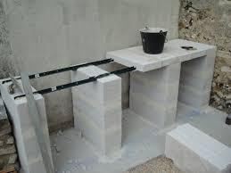 cuisine exterieure beton plan de travail pour cuisine exterieure carrelage pour plan