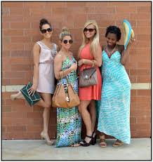 clothes mentor blog four young women wearing summer dresses light