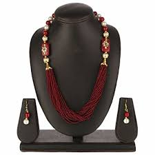 multi layered beaded necklace images Efulgenz indian bollywood traditional gold plated jpg