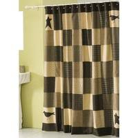 Green Plaid Shower Curtain Country Shower Curtains Primitive Country Burlap Shower Curtain