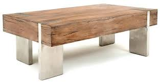 coffee table wood block side table tree root table base leather