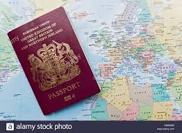 Great Britain On World Map by British Passport World Map Stock Photos U0026 British Passport World