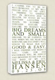 wedding keepsake quotes wedding vows canvas wall quotes keepsake words