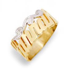 name ring gold vermeil custom script name ring s addiction