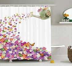 amazon com bathroom accessories butterfly flower water pail
