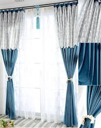 Blue And White Window Curtains Gorgeous Blue Window Curtains And Ocean Blue Window Curtains 3d