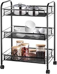 kitchen storage cupboard on wheels halter 3 tier metal storage shelves with wheels roller cart wire storage baskets office rolling cart organizer black