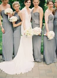 amsale bridesmaid gray amsale bridesmaids elizabeth designs the wedding
