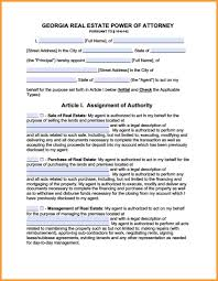 Ohio Power Of Attorney Form Pdf by 9 Power Of Attorney Form Georgia Week Notice Letter