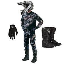camo motocross helmet oneal 2016 element digi camo jersey pants gloves rider boots 3