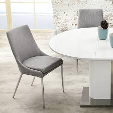 schwingstühle esszimmer esszimmerstuhl stuhl alia stoff grau gestell chrom