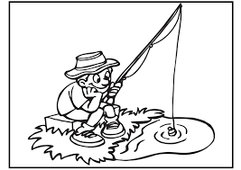 fishing coloring page