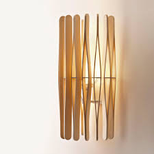 contemporary wall light aluminum wooden led stick f23