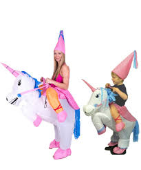 kids size animal themed cosplay inflatable unicorn pegasus