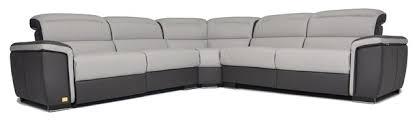 Full Top Grain Leather Sofa by Caracas Two Tone Grey U0026 Black Full Top Grain Italian Leather