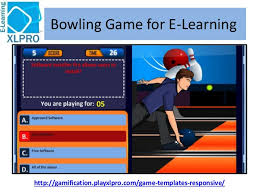 corporate e learning game template bowling