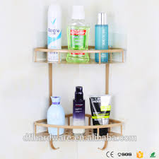 Cheap Corner Shelves by 2 Tiers Gold Cheap Bathroom Storage Rack Corner Shelf Kitchen