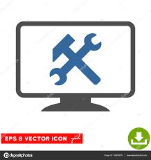 telecharger icone bureau icône de paramètres du bureau vecteur eps image vectorielle