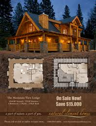 Log Cabin Home Floor Plans by Two Story House Plan With Walkout Basement Log House Plans At