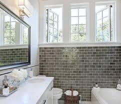 subway tile ideas for bathroom bathroom gray subway tile zhis me
