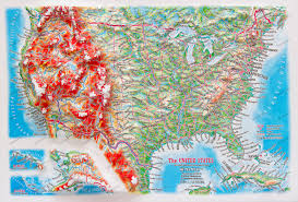 Magnetic Map Of Usa by 3d Raised Relief Maps