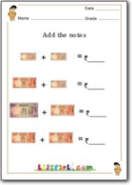 grade 3 indian rupees adding worksheet grade 2 worksheet money