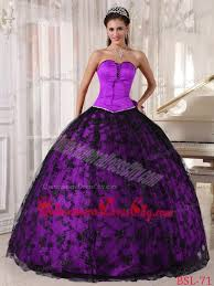 and black quinceanera dresses gown sweetheart lace floor length purple and black