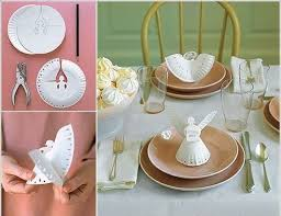 Christmas Paper Table Decoration by Diy Christmas Table Decoration Angel Made From Paper Plate Diy