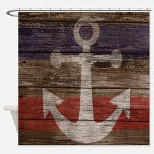 Nautical Anchor Shower Curtain Nautical Anchor Shower Curtains Cafepress