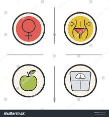 margarita emoticon weight loss diet color icons set stock vector 375225103 shutterstock