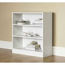 amazon com orion wide 3 shelf bookcase white kitchen u0026 dining