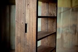 reclaimed wood bookshelf reclaimed wood farm table